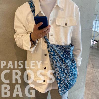 [UNISEX] BANDANA PAISLEY CROSS BAG (4color)