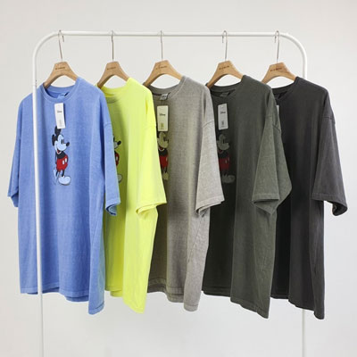 [UNISEX] PIGMENT STANDING MICKEY TSHIRT (5color)