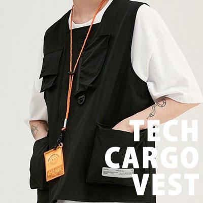 [UNISEX] TECH CARGO VEST (2color)