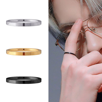 [UNISEX] THE BOYZ st. SURGICAL STEEL SIMPLE RING (3color)
