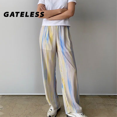 【GATELESS】FLOW WIDE PANTS (2color)