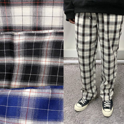 [UNISEX] WIDE CHECK PANTS (3color)