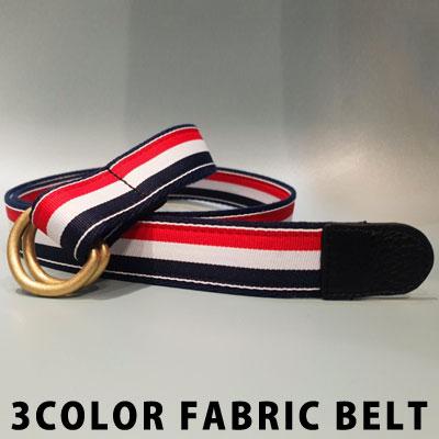 [UNISEX] 3COLOR FABRIC BELT