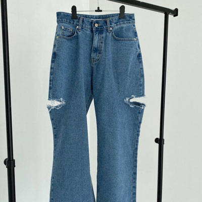 [UNISEX] DOUBLE CUTTING WIDE JEANS (3size)