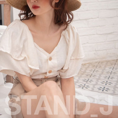 [STAND_J] PUFF UP BLOUSE (2color)