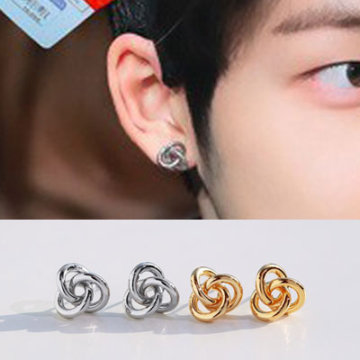 [UNISEX] THE BOYZ st. TWIST CIRCLE PIERCE (2color)