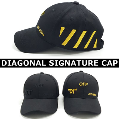 [UNISEX] SIDE DIAGONAL SIGNATURE CAP (2color)