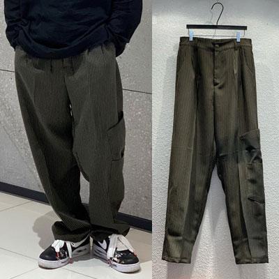 [UNISEX] STRIPE WIDE SLACKS PANTS (3color)
