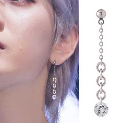 [UNISEX] NUEST/AB6IX st. DOUBLE CHAIN DROP PIERCE (6type)
