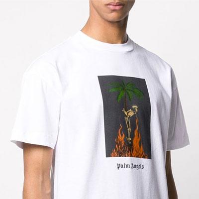 [UNISEX] PALM TREE SKELETON TSHIRT