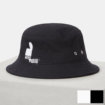 [UNISEX] BLACK&WHITE HALF BUCKET HAT (2color)