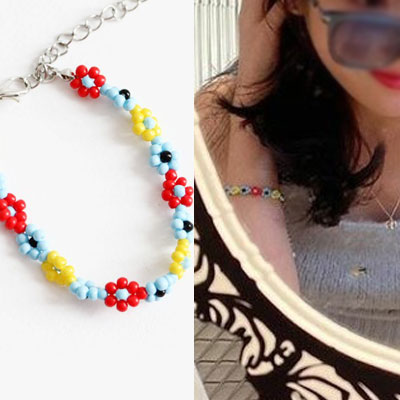 [UNISEX] IU st. FLOWER BEADS BRACELET/NECKLACE (2color)