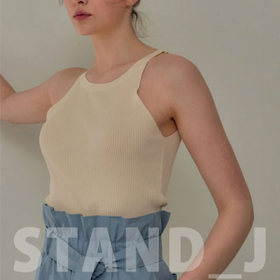 [STAND_J] NON SLEEVE TOP (5color)