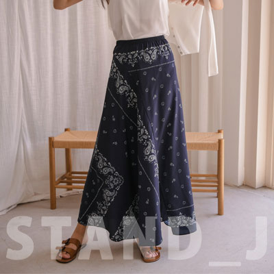 [STAND_J] BANDANA LONG SKIRT (2size)