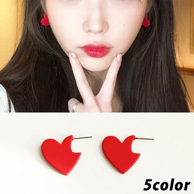 [UNISEX] IU st. LOVELY HEART PIERCE (5color)