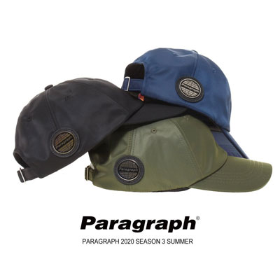 [Paragraph] LEATHER LOGO BALL CAP (3color)