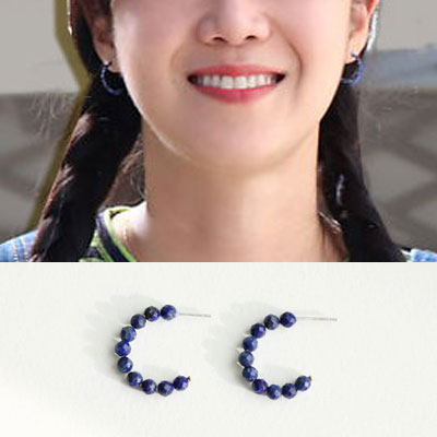 When the camellia blooms/Gong Hyojin st. GEMSTONE 925 SILVER PIERCE (2color)