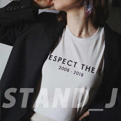 [STAND_J] RESPECT TSHIRT (2color)