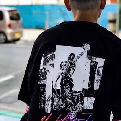 [UNISEX] BASKETBALL PLAYER PRINT TSHIRT (2color)