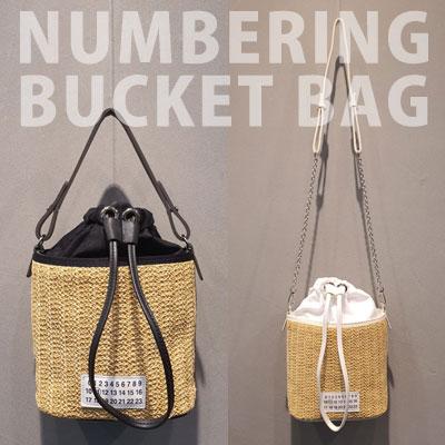 NUMBERING BUCKET BAG (2color)