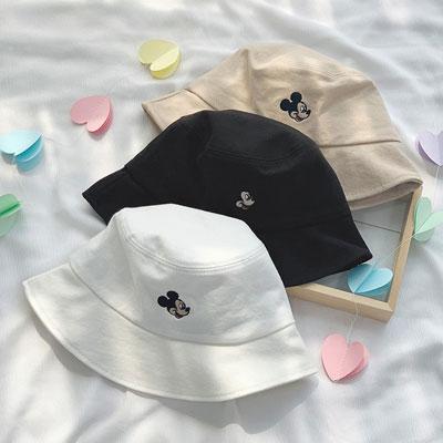 [UNISEX] MICKEY HEAD BUCKET HAT (3color)