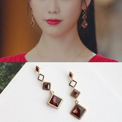 [K-drama/Hotel DELUNA/IU st.] ANTIQUE LONG DROP 925 SILVER PIERCE (3color)