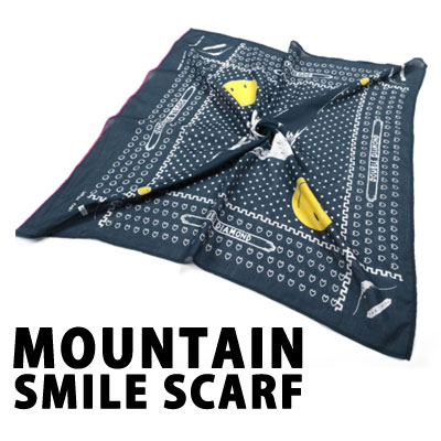 [UNISEX] MOUNTAIN SMILE SCARF -Navy