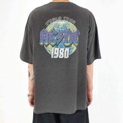 [UNISEX] AC/DC TOUR PIGMENT TSHIRT (3color)