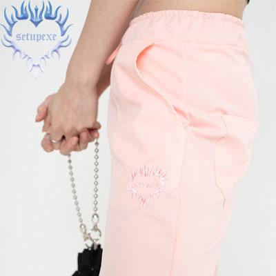 【SETUP-EXE】Pastel jogger Pt - pink