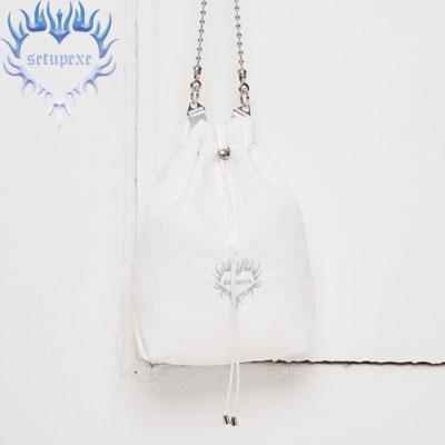 【SETUP-EXE】Ball chain bucket Bag - white