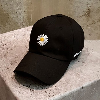 [UNISEX] DAISEY EMBROIDERY BALL CAP
