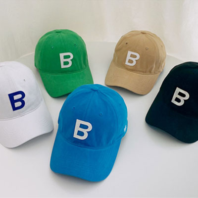 [UNISEX] B APPLIQUE BALL CAP (5color)