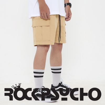 【ROCK PSYCHO】CARGO SHORTS -Beige