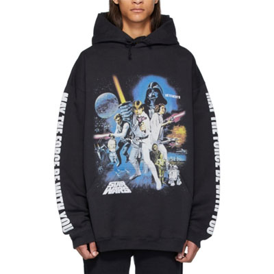 [UNISEX] FORCE BE WITH YOU POSTER PRINT HOODIE-copy