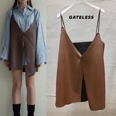 【GATELESS】LEATHER VEST (2color)