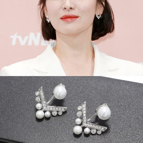 K-drama「Boyfriend」Song Hyekyo st. PEARL CHANDELIER PIERCE
