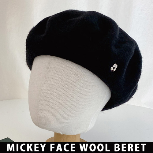 [UNISEX] MICKEY FACE WOOL BERET