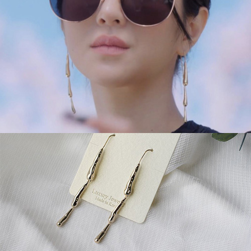 K-drama[It's Okay to Not Be Okay]/Seo Yeji st. TRIPLE DROP GOLD PIERCE