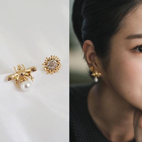 K-drama[It's Okay to Not Be Okay]/Seo Yeji st. HONEY BEE PEARL FLOWER PIERCE
