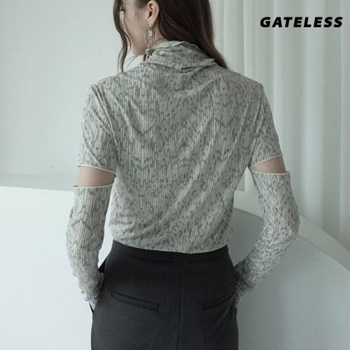 【GATELESS】CUT OFF SLEEVE TSHIRT (2color)
