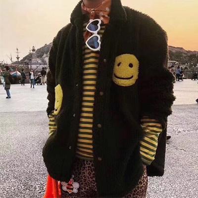 [UNISEX] BIG SMILE POINT FUR JACKET (3color)