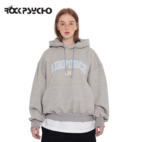 【ROCK PSYCHO】AIRFORCE HOODIE -grey