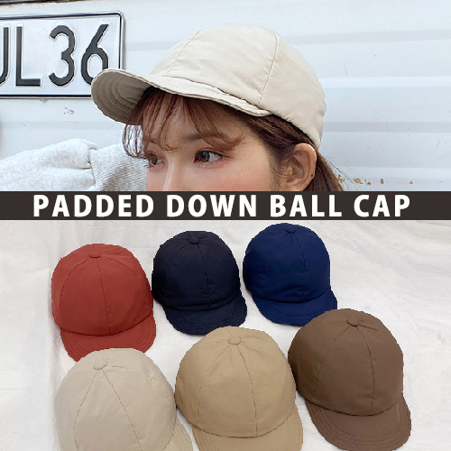 [UNISEX] PADDED DOWN BALL CAP (6color)