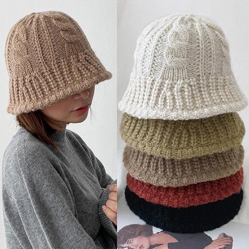 [UNISEX] TWIST KNIT BUCKET HAT (5color)