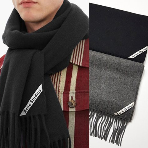 [UNISEX] LABEL POINT MUFFLER (2color)