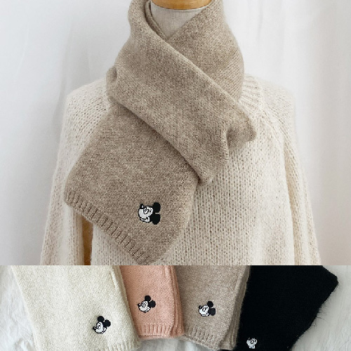 [UNISEX] MOUSE FACE WOOL MUFFLER (4color)