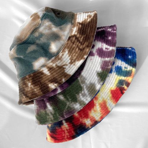 [UNISEX] FLEECE PAINT BUCKET HAT (3color)