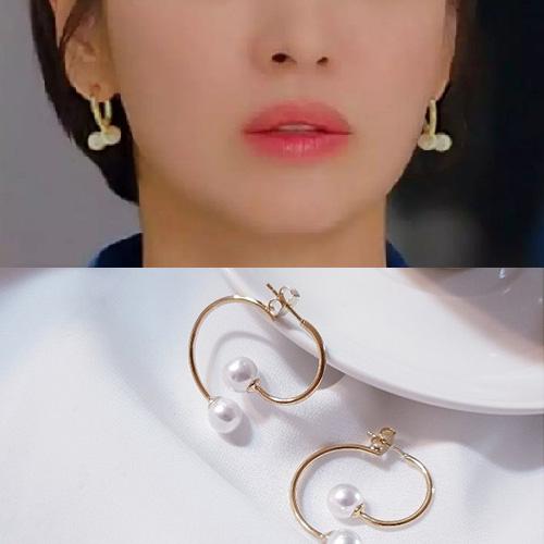 K-drama「Boyfriend」Song Hyekyo st. PEARL HOOP HOOP PIERCE (2color)